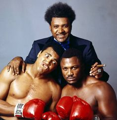 Muhammad Ali, Don King and Joe Frazier, 1975