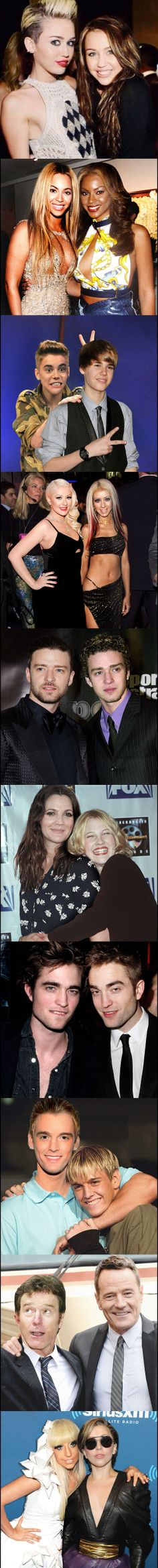 Celebrities Posing With The Old Versions Of Themselves