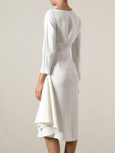 Valentino Asymmetric Draped Dress - Tessabit -