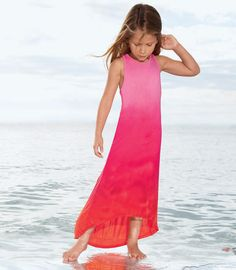 sunset dipped dress. embroidery could be added or shiny bow etc