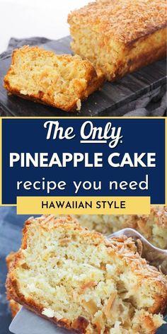 Hawaiian Dessert Recipes, Pineapple Desserts, Coconut Desserts, Pineapple Cake, Pineapple Coconut, Crushed Pineapple, No Cook Desserts, Delicious Desserts, Baking Recipes