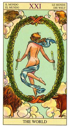 Tarot of the New Vision (New Vision) - Tarot of the New Vision   Encyclopedia of Tarot cards and the oracles Rozamira   The World Card   Major Arcana Art   Divination