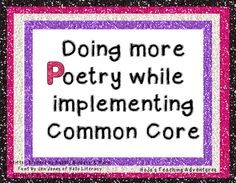 Add More Poetry into Your Day While Teaching Common Core Standards!
