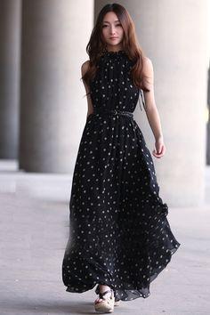 Vestido de gasa negro MXN530