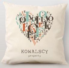 Poduszka personalizowana LOVE LOVE idealny na urodziny