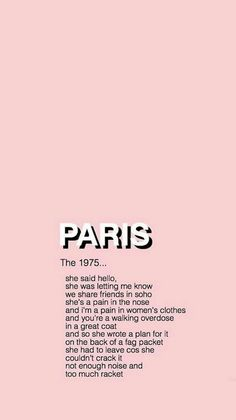 Image in pink collection by lockscreen af on we heart it The 1975 Quotes, The 1975 Lyrics, Song Lyrics, The 1975 Wallpaper, Cool Wallpaper, Iphone Wallpaper, Aesthetic Grunge, Quote Aesthetic, Pink Aesthetic
