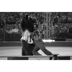 Circus X by dandyDADA ARCHIVE  #animallovers #love #hug #animalpicture #blackwhitephoto #circus #show #drink #milk