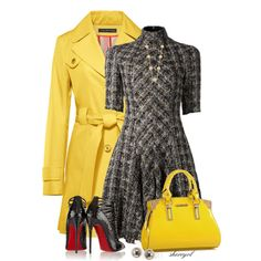 """""""Yellow Trench And Treed Dress Contest"""" by sherryvl on Polyvore"""