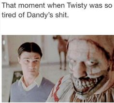 American Horror Story: Freak Show. Finn Wittrock as Dandy and John Carroll Lynch as Twisty.