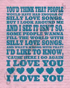 Silly Love Songs. Paul McCarney & Wings