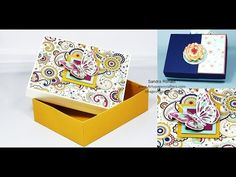 Large Reinforced BOX in INCHES -  SandraR Stampin' Up! Demonstrator Independent 1 - YouTube