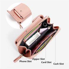 Women Girls Crossbody Bag Phone Coin Card Cash Slot Faux Leather Handbag Pouch