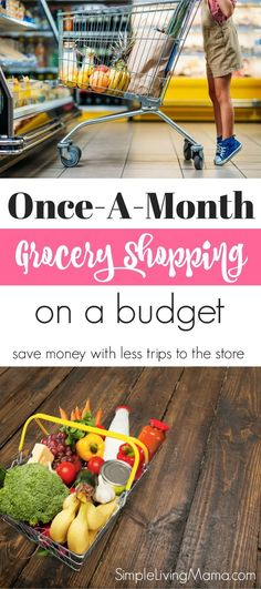 Learn all you need to know about once a month shopping with these tips and tricks. It's not impossible to grocery shop for a month on a budget.