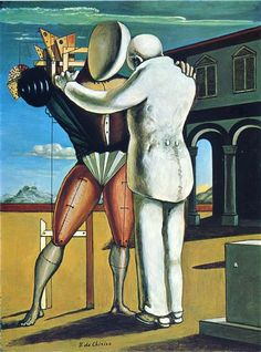 The Prodigal Son is an Oil on Canvas Painting created by Giorgio de Chirico in The image is tagged Mannequins, Allegory and Metaphysical Artist. Italian Painters, Italian Artist, Art Visionnaire, Art Ancien, Prodigal Son, Max Ernst, Ouvrages D'art, Magritte, Norman Rockwell