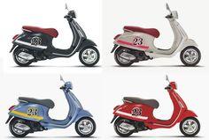 Vespa Primavera - Simply Striping Concept Series New Vespa, Vespa Lx, Vespa Scooters, Classic Bikes, My Ride, Cars And Motorcycles, Gadgets, Concept, Vehicles