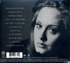 Adele 21 Deluxe 2 CD with 4 Bonus Live Tracks  The deluxe edition of  21  features an exclusive bonus disc featuring acoustic and live performances.    21  is the eagerly awaited sophomore album from British singer-songwriter Adele. It's the follow up to Adele's critically acclaimed, Grammy award winning debut album  19  (both named after her age at the time the songs were written). Recorded in Malibu and London,  21  offered Adele the opportunity to work with such luminary producers..