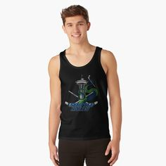 """""""Seattle Hockey"""" Tank Top by HavenDesign 