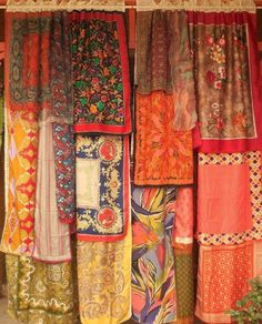 Curtains made from scarves