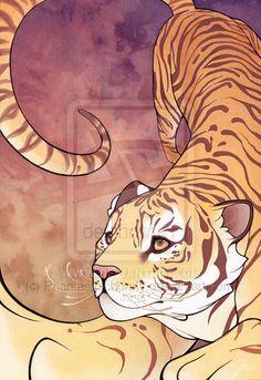 Great tiger drawing!! Reach by ~ElizabethBeals on deviantART