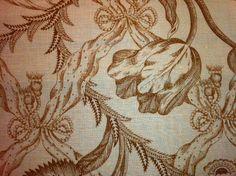 Clarence House Beautiful Kazumi Toile Heavy Cotton Fabric Floral Lattice Upholstery Fabric Drapery Fabric SALE! $14.99/yard  LCH211