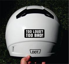 Vinyl Decal Sticker Motorcycle Helmet Hard Hat Welder Biker Military Cruel Nasty