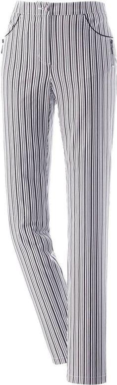 Ambria Hose in aktuellem Streifen-Dessin ab 34,99€. Hose mit schmalem Schnitt, Baumwolle, Elasthan, Knopf- und Reißverschluss bei OTTO