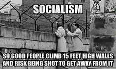 Socialism is so good people climb 15 feet high walls and risk being shot to get away from it. #Capitalism #FreeMarket