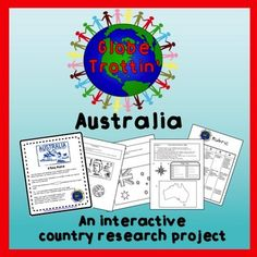 Students create a notebook as they learn about the geography and culture of Australia. All activities are completed in a separate notebook (not provided).Activities include:Maps:  (world, continent, country) creating a compass rose and a map keyCountry stats: listing the population, area, products, and climateFlag: coloring a sample flag; writing a description of what the colors and symbols meanCurrency:  identifying and coloring a sample coin and billLanguage:  learning common…