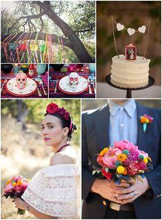 I actually think like a dia de los muertos/sugar skull wedding cake would be so unique and so me and sergio estylo!