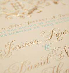 #gold #foilstamp #wedding #invitation #design #stationery #details