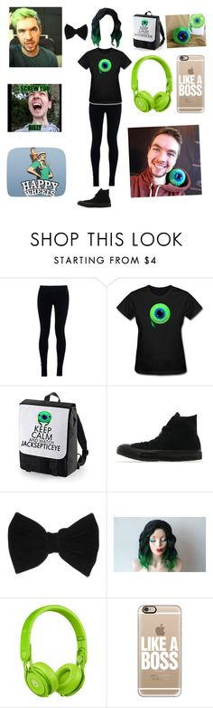 """Playing happy wheels with jacksepticeye"" by jazzywiggles ❤ liked on Polyvore featuring NIKE, Converse, claire's, Beats by Dr. Dre and Casetify"