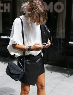 Le parfait total look noir et blanc #23 (photo Noholita)