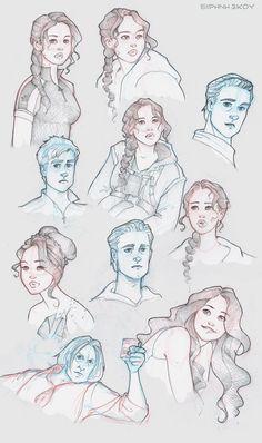 Hunger Games sketchdump by Ninidu.deviantart.com on @deviantART // Hunger Games fan art