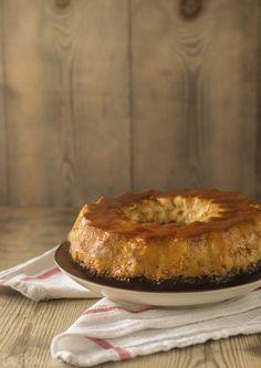 Bizcoflan o pastel imposible sin lactosa - La Rosa Dulce