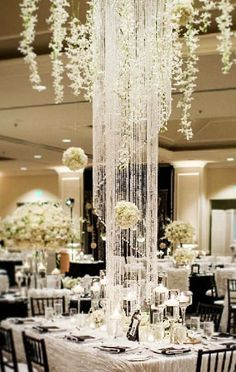 Photographer: Janae Shields Photography, Via Amy Burke Designs; Sophisticated black and white wedding reception