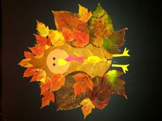 Fall leaf turkey kid craft