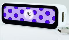 Charge Your Phone on the Go 2200mAh Polka Dots by ShowYourFlipside
