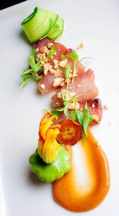 Food Presentation - Food Styling - Food Plating - orange and greens