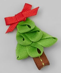 Loving this Light Green & Red Tree Hair Clip on #zulily! #zulilyfinds