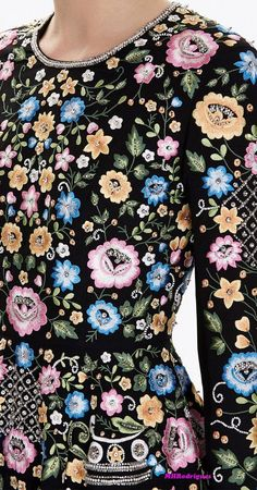 Needle & Thread Spring 2017 - source: needleandthread.com: Embroidered Dresses, Waist Coat, Diy Keychain, Floral Fashion, Needle And Thread, Fashion Details, Chic Outfits, Highlight, Embroidery Designs