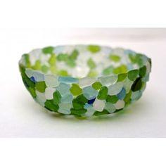 DIY Dollar Store Sea Glass Bowl !