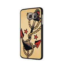 Anchor Tattoo Style Sailor Pirate Samsung Galaxy S6 | S6 Edge Cover Ca – Imporiumlounge Samsung Galaxy S6, Galaxies, Pirates, Sailor, Cool Art, How To Apply, Phone Cases, Ink, Tattoo