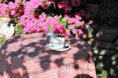Sonntagskaffee mit einer Tischdecke von verum textilia. Strand, Happy Sunday, Hemp, Bible Verses, Sun, Weaving, Textiles, Cotton