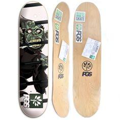 Shape para Skate PGS Crazy + Lixa de graça - Shape feito com 7 Lâminas de e6bbbae94ad