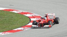 Ferrari practicing at Malaysia 2012