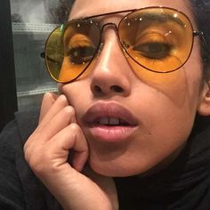love her love the glasses Mirrored Sunglasses, Sunglasses Women, Girls With Glasses, Interesting Faces, Glasses Frames, Pure Beauty, Geek Chic, Woman Face, Black Girl Magic