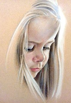 Hannah Pastel by Lee Stephenson Pencil Portrait Drawing, Realistic Pencil Drawings, Portrait Sketches, Portrait Art, Pastel Portraits, Watercolor Portraits, Pastel Drawing, Pastel Art, Painting People