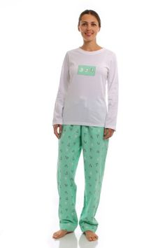 f19576aecb Noble Mount Womens Premium 100% Cotton Flannel Knit Sleepwear Set - Cute  Designs  24.99