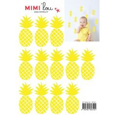 Stickers Ananas Just a Touch Mimilou 12EUR