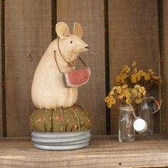 Fabric Mouse Pattern | new Summertime Mouse!